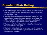 standard stair railing