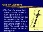 use of ladders18
