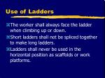 use of ladders19
