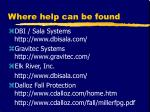 where help can be found