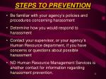 steps to prevention21
