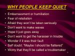 why people keep quiet