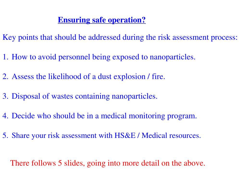 Ensuring safe operation?