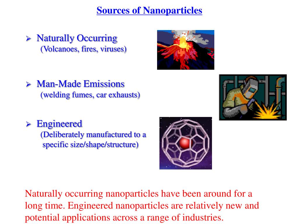Sources of Nanoparticles