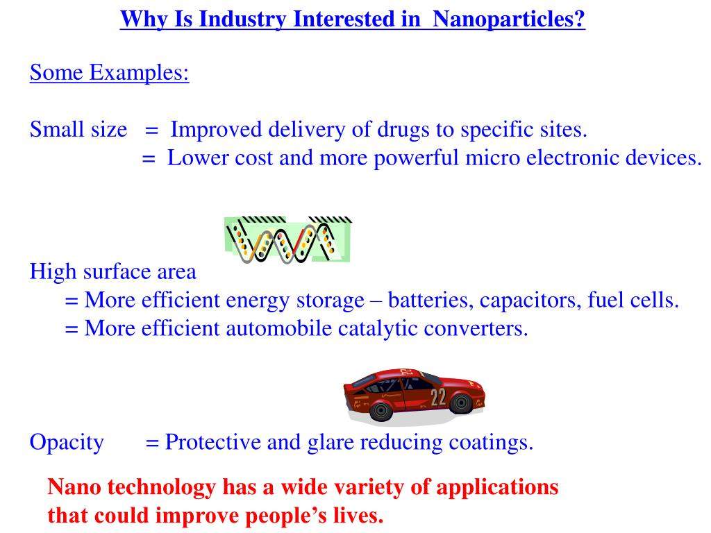 Why Is Industry Interested in  Nanoparticles?