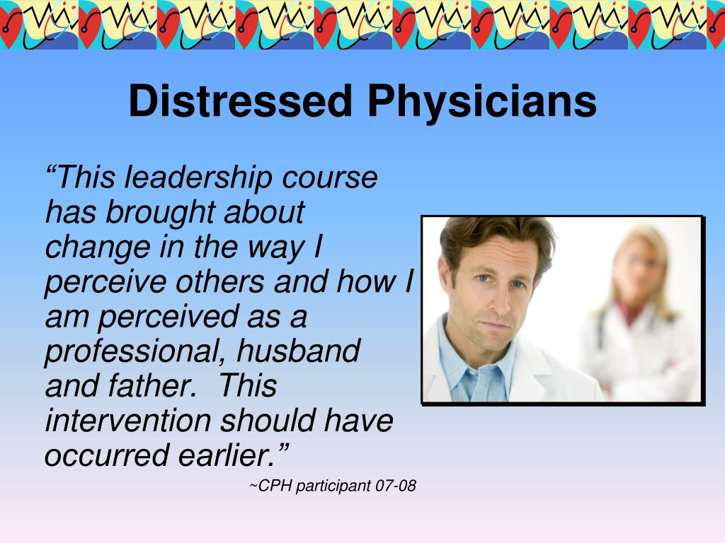Distressed Physicians