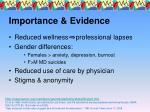 importance evidence7