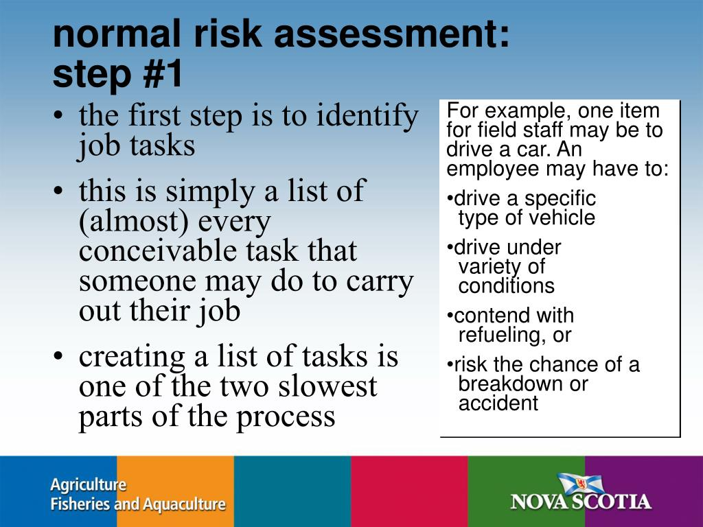 normal risk assessment: