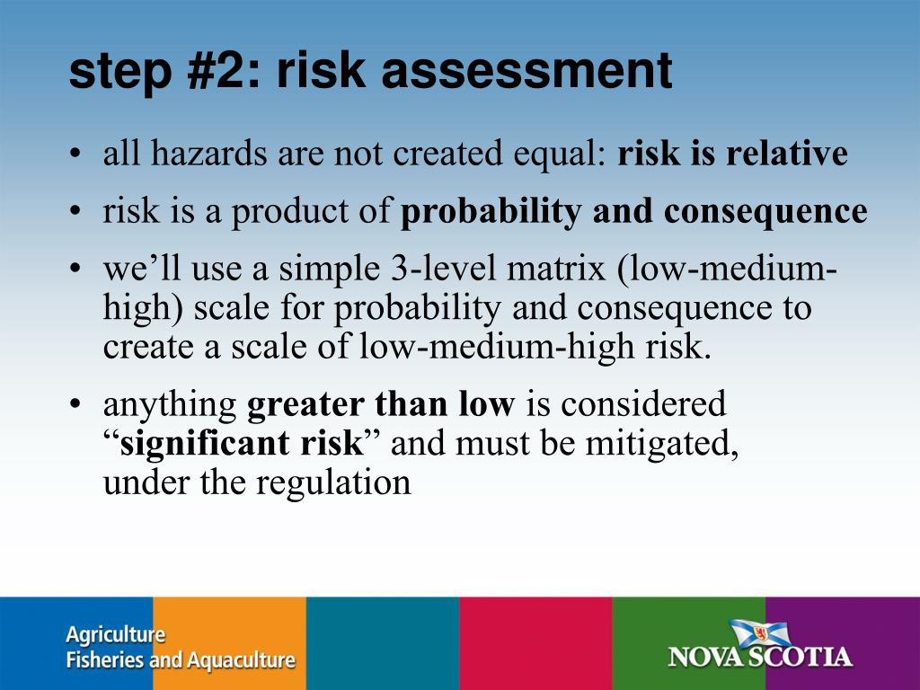 step #2: risk assessment
