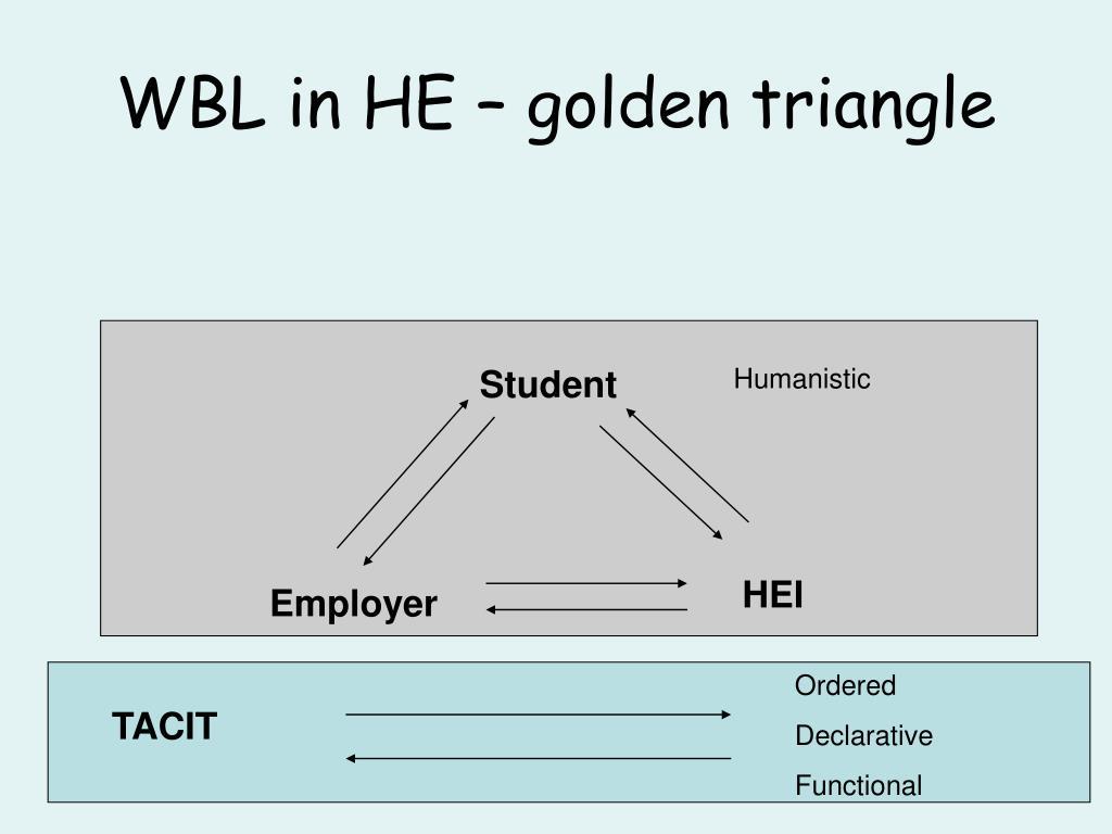 WBL in HE – golden triangle