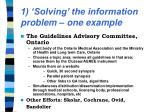 1 solving the information problem one example