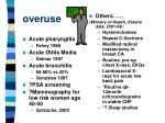 overuse