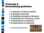 producing disseminating guidelines