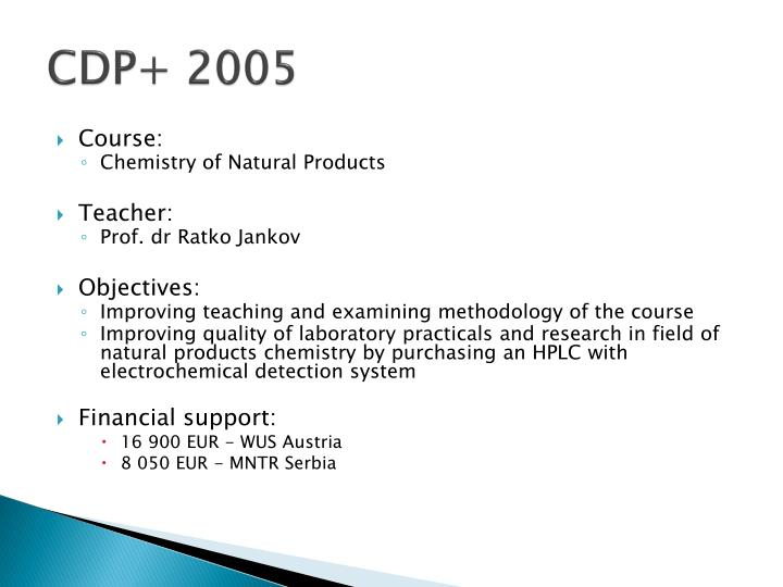 CDP+ 2005