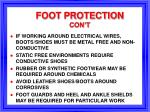 foot protection con t