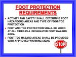 foot protection requirements