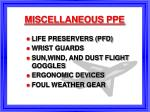 miscellaneous ppe