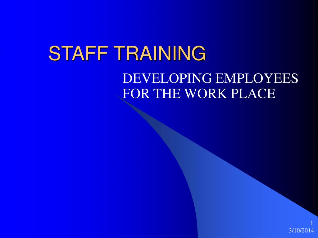 staff training l.