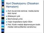 aort diseksiyonu dissekan hematom