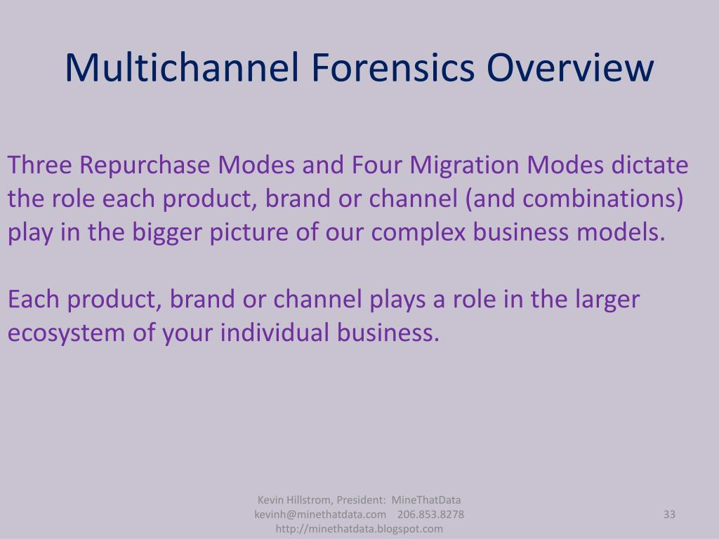 Multichannel Forensics Overview