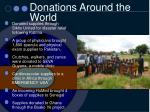 donations around the world