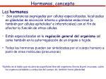 hormonas concepto