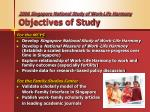 2006 singapore national study of work life harmony objectives of study