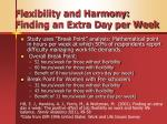 flexibility and harmony finding an extra day per week