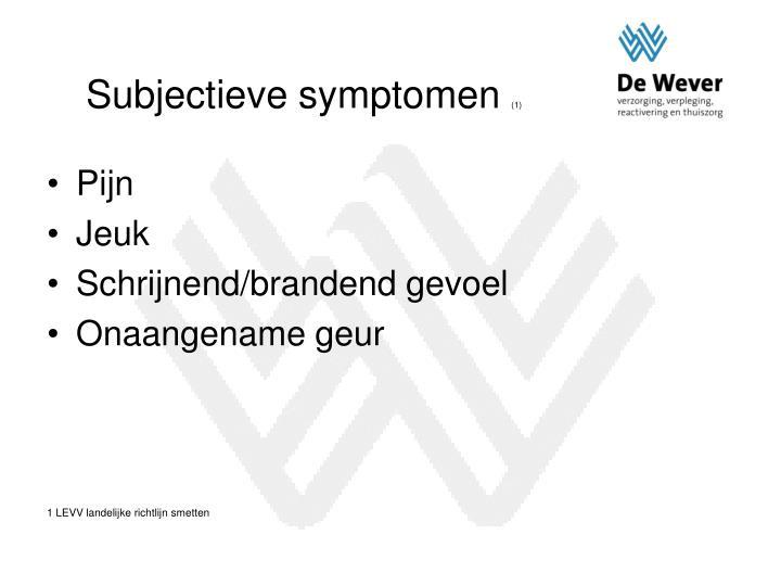 Subjectieve symptomen