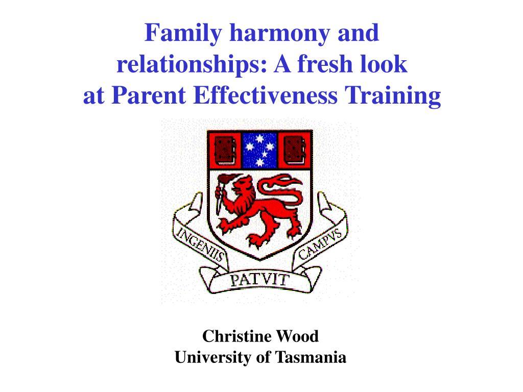 Family harmony and