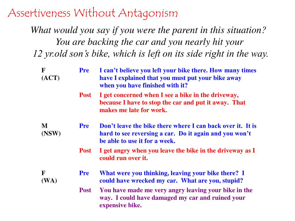 Assertiveness Without Antagonism
