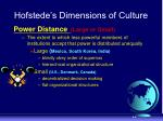 hofstede s dimensions of culture