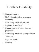 death or disability