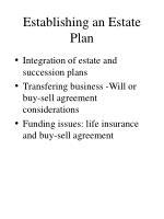 establishing an estate plan