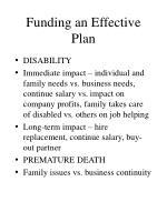 funding an effective plan17