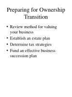 preparing for ownership transition9