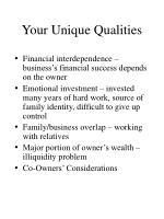 your unique qualities