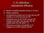 3 in definitiva valutazione efficacia