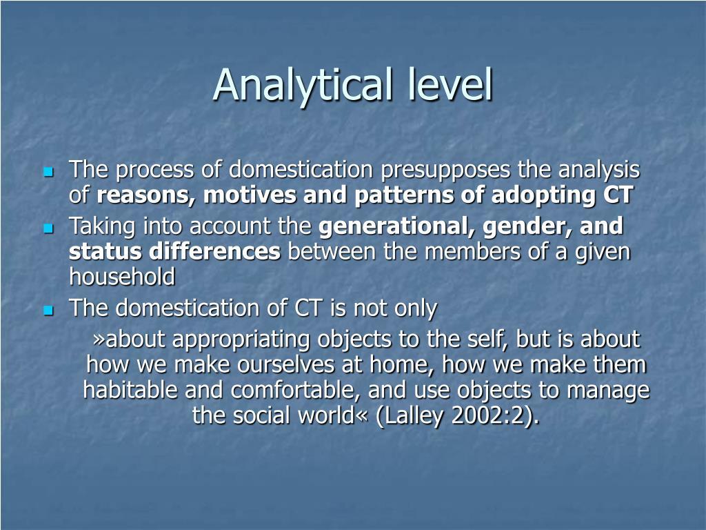 Analytical level