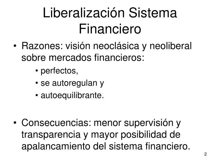 Liberalizaci n sistema financiero