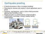 earthquake proofing