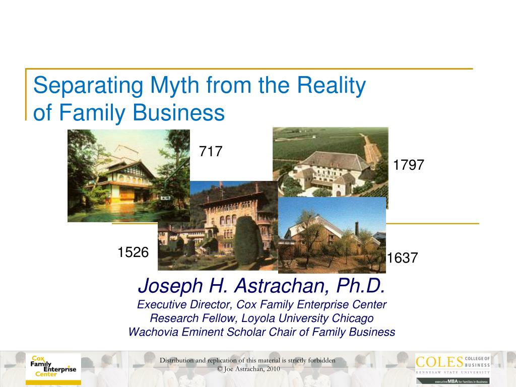 separating myth from the reality of family business l.