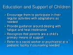 education and support of children6