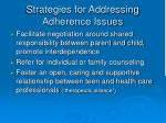 strategies for addressing adherence issues20