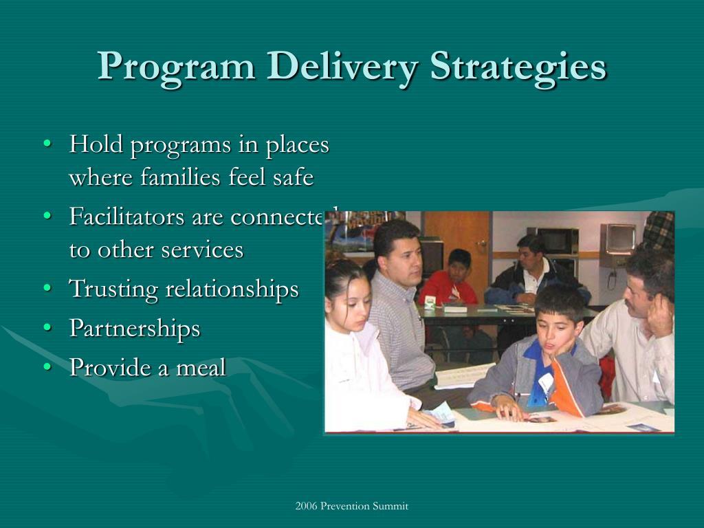 Program Delivery Strategies