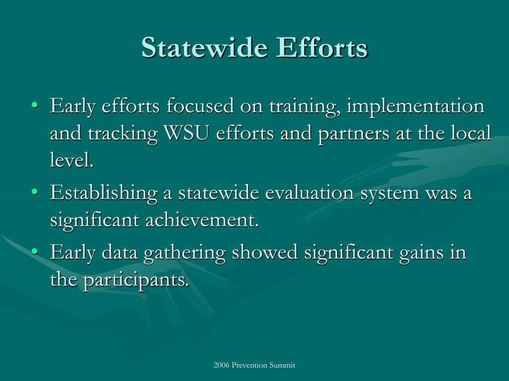 Statewide Efforts