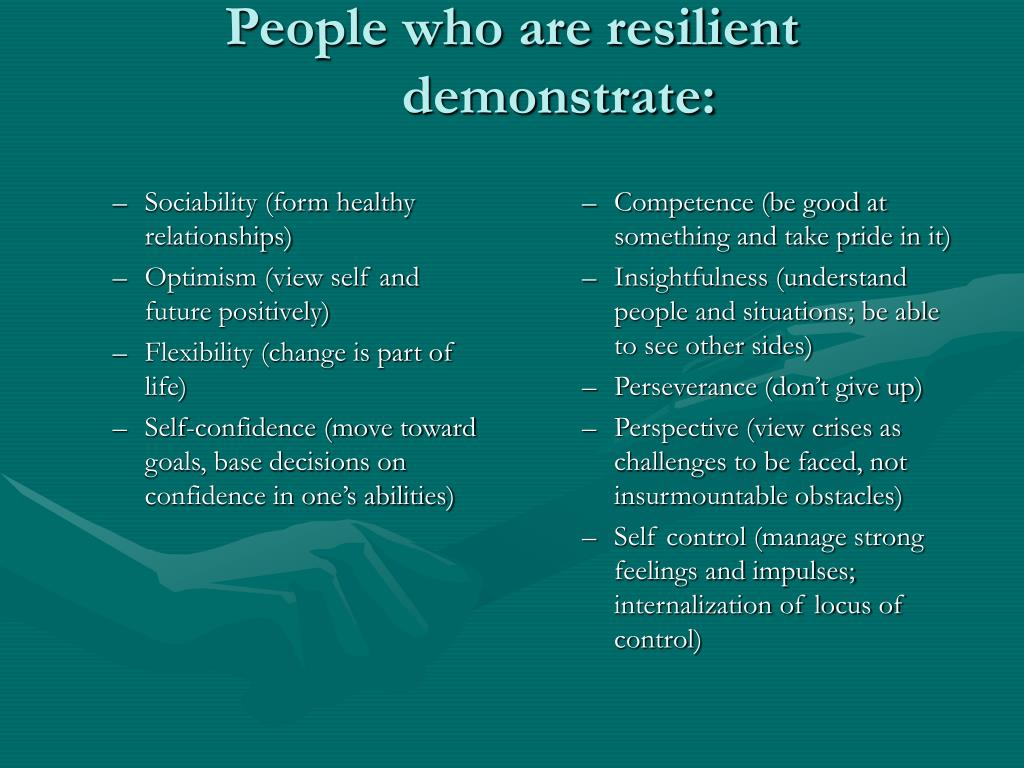 Sociability (form healthy relationships)