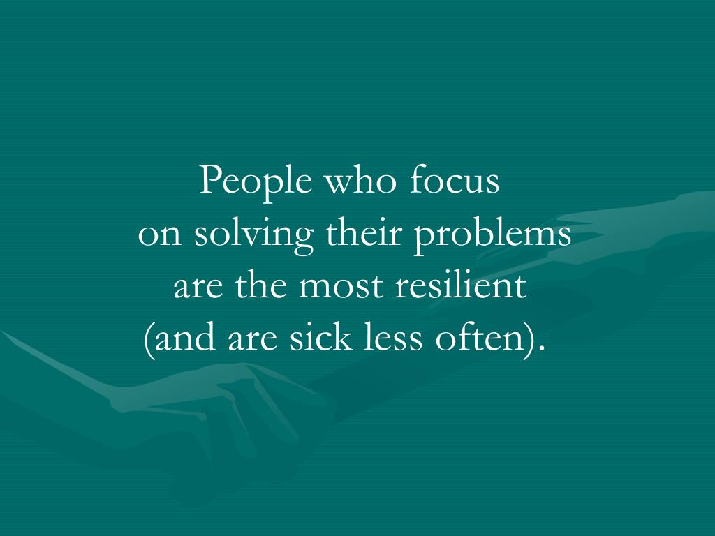 People who focus