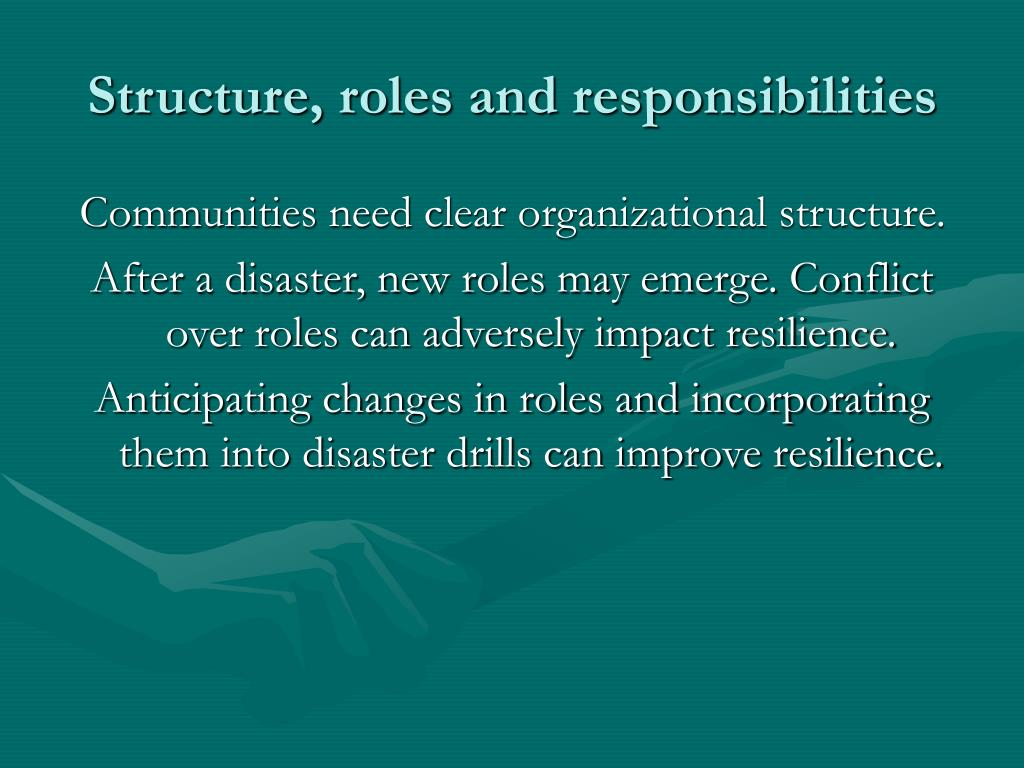 Structure, roles and responsibilities