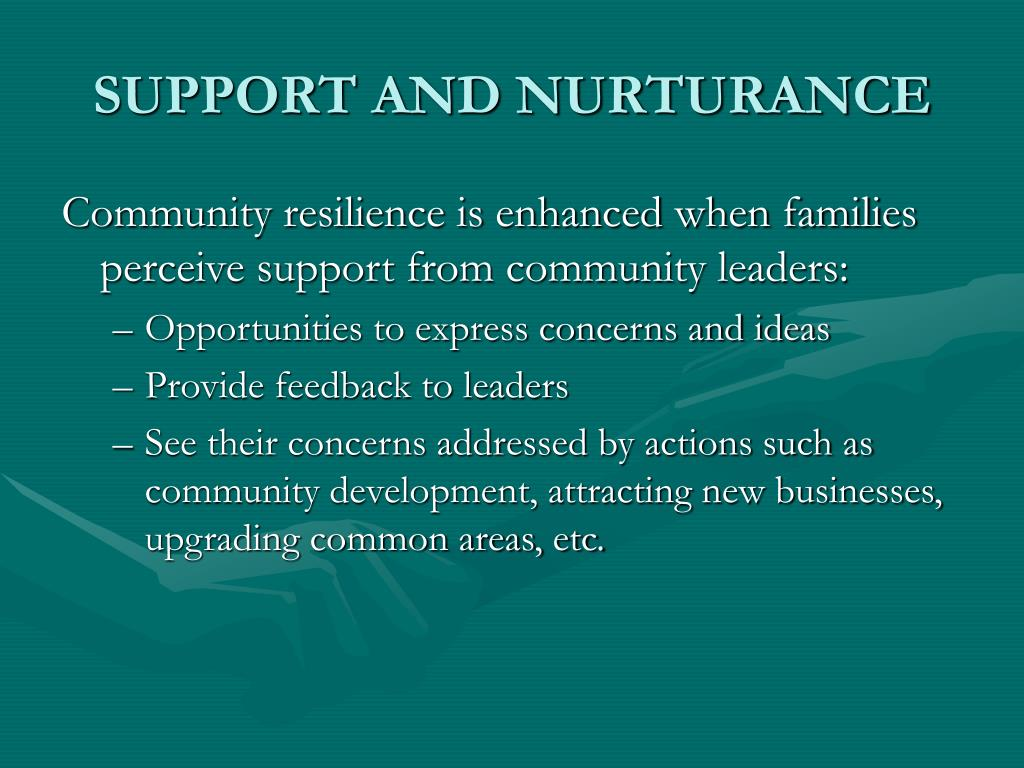 SUPPORT AND NURTURANCE